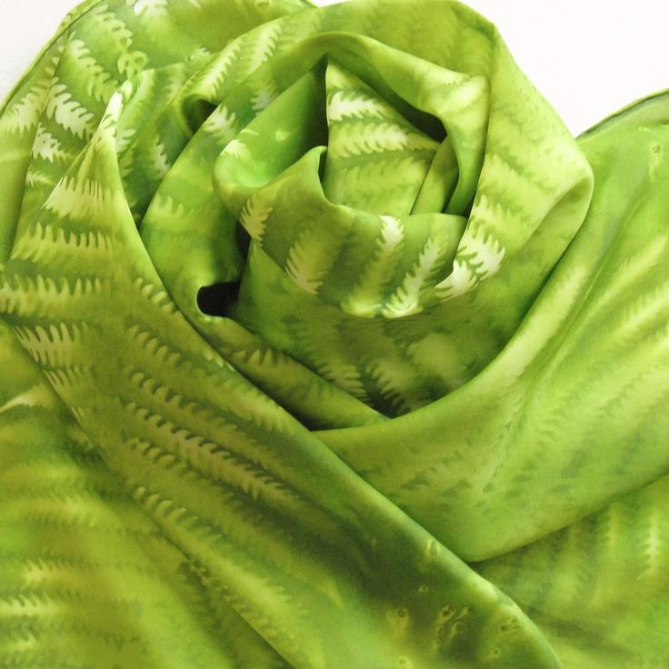 silk: Hands, Silk Artistic Things I Lik, Limes Green Silk, Silk Artists Things I Lik, Scarfs Silk, Ferns, Silk Scarves, Silk Artisticthingsilik