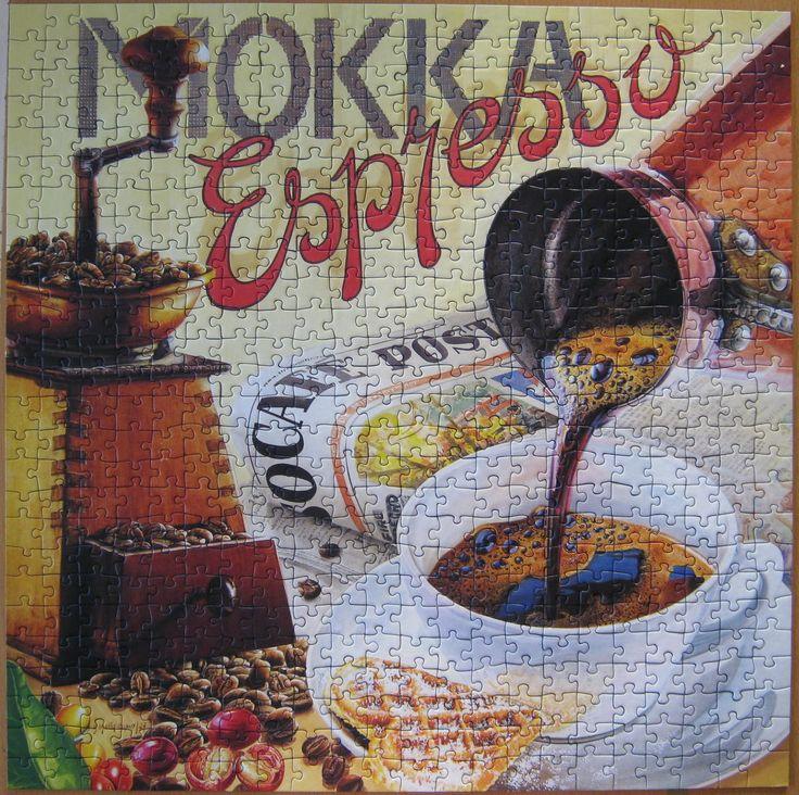 """""""Ravensburger Espresso 500 parça puzzle""""  Hazır yapılmış ve yapıştırılmış çerçeveye hazır puzzle Aynı gün kargo!  Satın almak ve fiyat bilgisi için ürün görseli üzerine tıklayın lütfen..!!"""