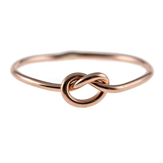 Knot Ring 14K Rose Gold-filled by hoopsbyhand on Etsy