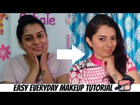 Easy Everyday Makeup Tutorial For Indian Skin | Hindi - YouTube