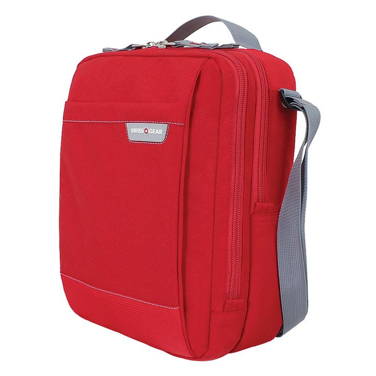 Swiss Gear Vertical Crossbody Travel Bag, Red