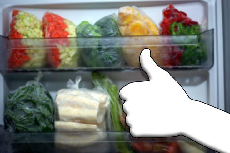 tabelas de congelamento de vegetais.