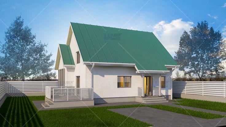 Proiect casa Parter + Mansarda 111 m2 - Muralis. Mai multe detalii gasiti aici: https://www.uberhause.ro/proiect-casa-parter-plus-mansarda-111-m2-muralis