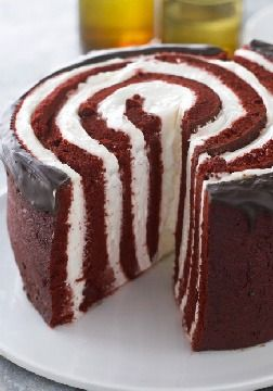 Under-a-Spell Red Devil Cake -- No magic word will break this spell. Rich, moist chocolate cake with a creamy dreamy filling makes for a devilishly delicious dessert recipe.