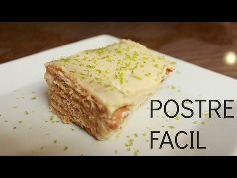 ▶ Torta de galletas y limon - Postre facil - YouTube