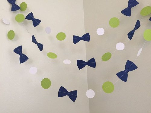 Lime Green And Navy Little Man Baby Shower Decorations Bowtie Baby   Http://
