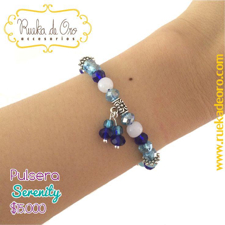 Pulsera Serenity | Rueka de Oro accesorios www.ruekadeoro.com #accesorios #aretes #collares #pulseras #bolsos #cuellos #relojes #fashion #colombia #bogota