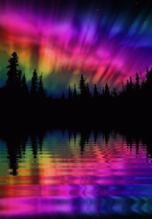 Rainbow Aurora Borealis | Northern Lights | Pinterest ...