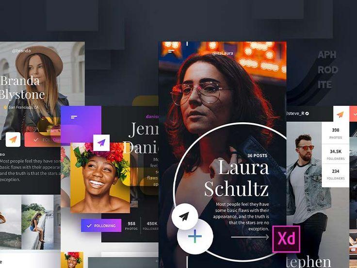 Aphrodite - UI Kit for Adobe XD