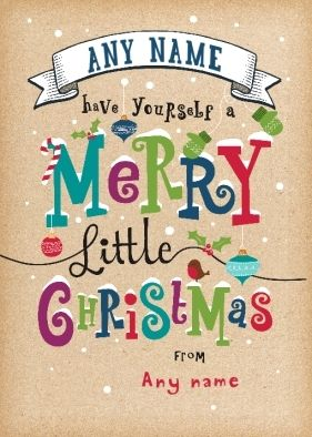Personalised Christmas Card - Little Christmas