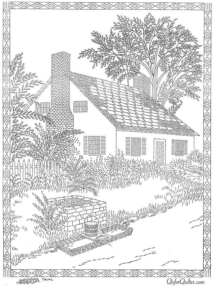 cottage coloring pages - photo#15