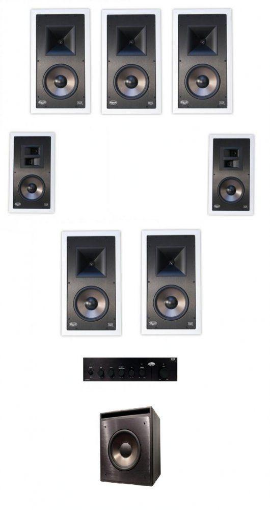 klipsch 71 thx ultra 2 certified home cinema in wall speaker system