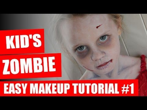 Halloween Makeup Tutorial - Kids Zombie Makeup - YouTube