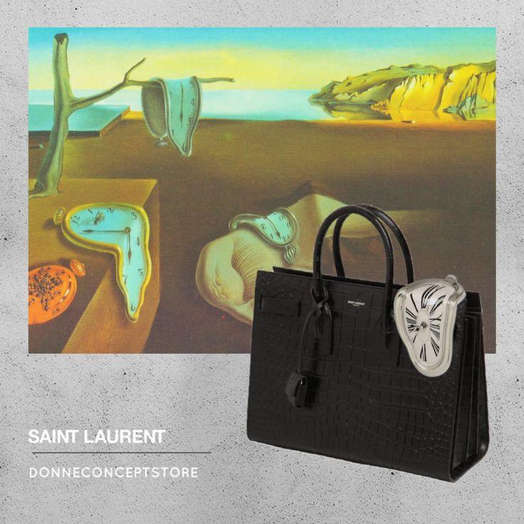 #Sacdujour #SaintLaurent #Dalì #lapersistenzadellamemoria #orologimolli #croccoprint
