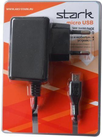 Stark Stark micro-USB 1000мА  — 690 руб. —  Универсальное сетевое зарядное устройство Stark Micro-USB предназначено для подзарядки аккумуляторов смартфонов и планшетов, электронных книг и плееров, другой совместимой мобильной электроники. Его характерные особенности – компактность, небольшой вес, надежная конструкция. Устройством можно пользоваться везде, где есть электрическая розетка – дома, в офисе, в номере отеля и так далее. Его можно хранить в ящике стола, носить с собой в сумке…