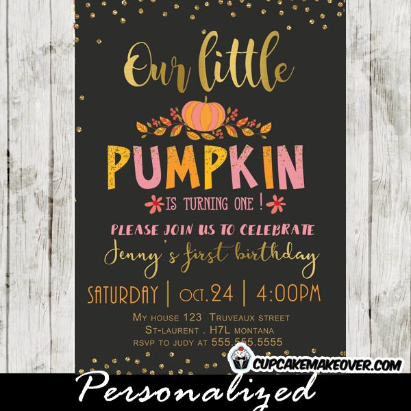25 best Fall birthday invitations ideas – Little Girl Party Invitations