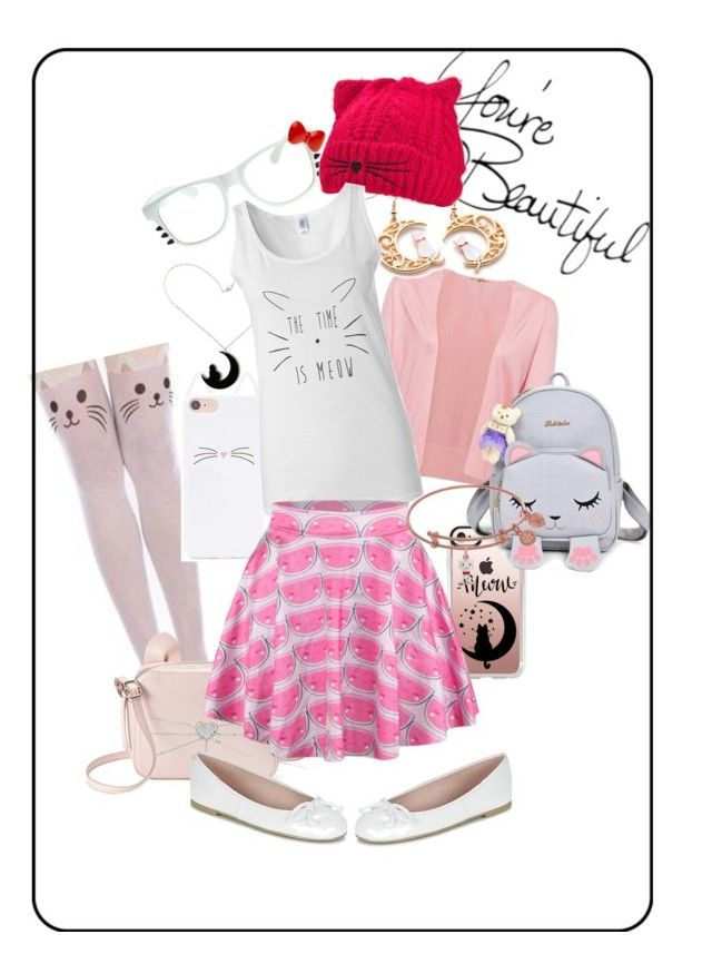 """""""Cerise's outfit"""" by crazy-white-mofo on Polyvore featuring mode, Casetify, Forever 21, ZeroUV, Curiology, T-shirt & Jeans et Pretty Ballerinas"""