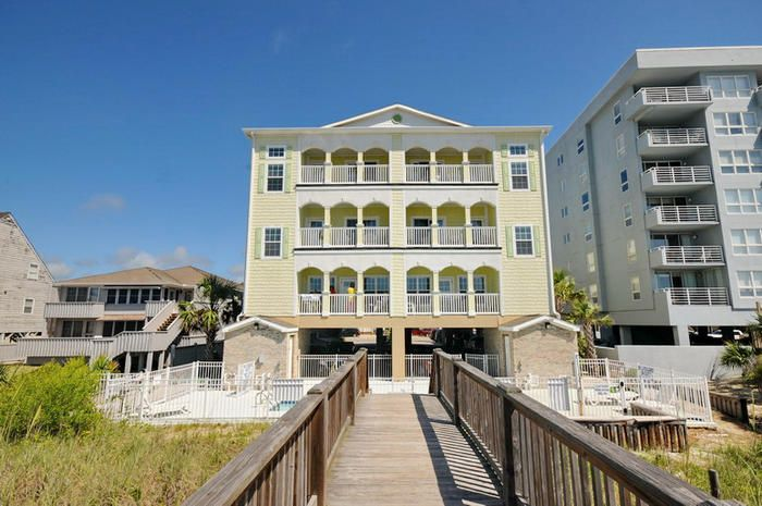 Aces Wild Diamond is an oceanfront beach house rental in the Ocean Drive section of North Myrtle Beach, SC.  Elliott Beach Rentals has specialized in professional management of beach homes and condos since 1959.