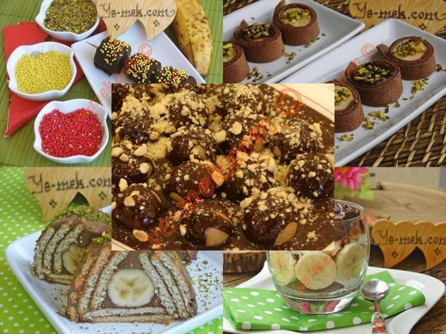 Çikolatalı Muzlu Tatlı ve Pasta Tarifleri nasıl yapılır? Kolayca yapacağınız Çikolatalı Muzlu Tatlı ve Pasta Tarifleri tarifini adım adım RESİMLİ olarak anlattı