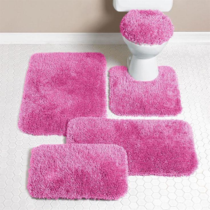 Pink Bathrooms Inspiration, Pink Bathtub And Pink