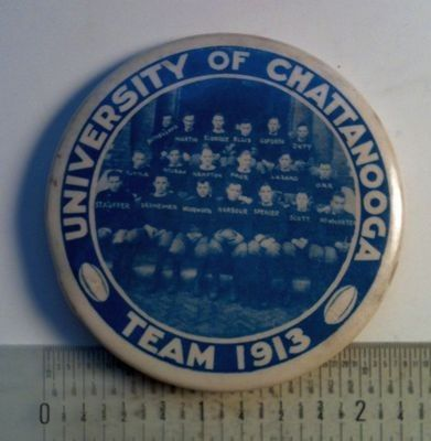 1913 University of Chattanooga college football team photo button | #430844123
