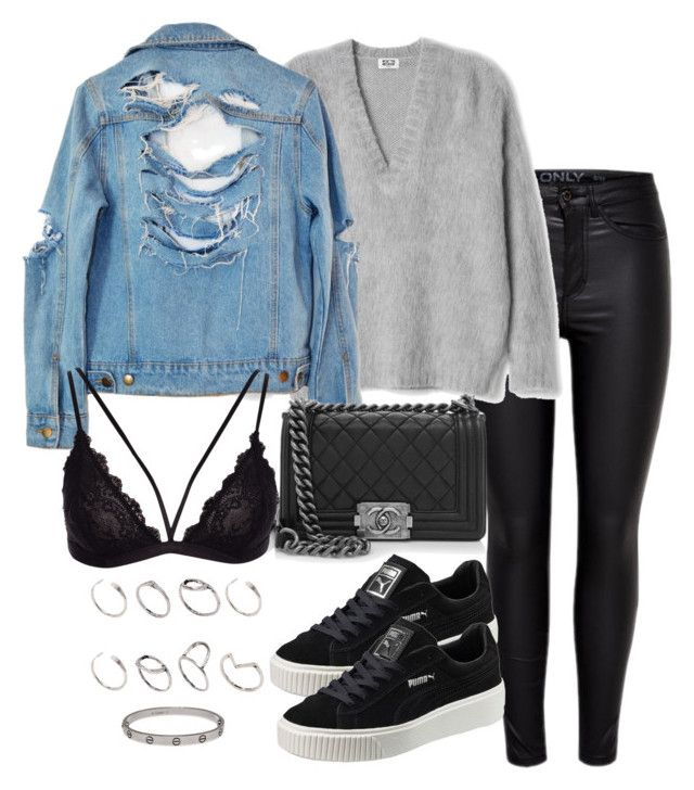 """""""Untitled #2623"""" by theeuropeancloset on Polyvore featuring Puma, High Heels Suicide, Chanel, ASOS and Cartier"""