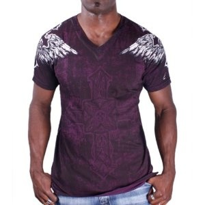 AFFLICTION Gullable V Neck Graphic Cotton Mens T-Shirt (Apparel)