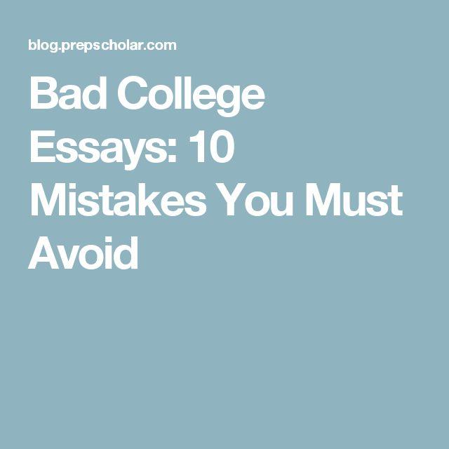 bad college essay topics