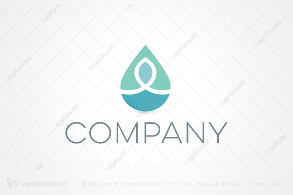 Aqua Drop logo for SALE. - Simple yet elegant logo suitable for many business including wellness, cosmetics, massage, spa etc... Colors will be changed on request.