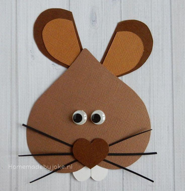 Rabbit made of hearts / Konijn van hartjes