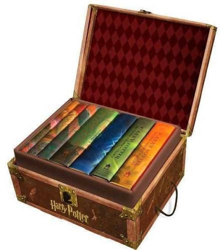 HARRY POTTER BOXED SET 1-7 includes the seven phenomenal Harry Potter hardcover books by best selling author J. K. Rowling. These books are housed in a collectible trunk-like box with sturdy handles a