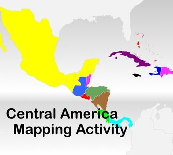 Map Activity – Central America -    In this activity, students must locate and identify the countries (and capital cities if so desired) of Central America.     Included in this package is a ready-to-copy blackline master map of Central America along with a separate answer key.    Also included is a 30-slide PowerPoint presentation that can be used to go through the various countries as a class or to take up the students' answers. $