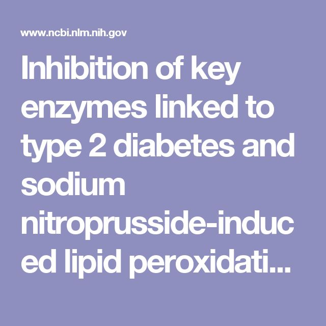 Inhibition of key enzymes linked to type 2 diabetes and sodium nitroprusside-induced lipid peroxidation in rat pancreas by water-extractable phytoc... - PubMed - NCBI