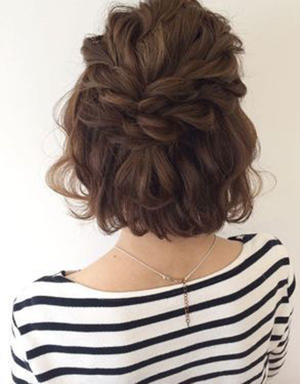 10 Best Ideas About Short Updos Hairstyles Short Updos Hairstyles Short Wedding Hair Hair Styles Short Hair Updo