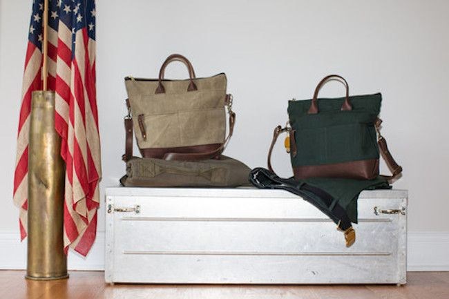 R. Riverter's Signature Collection handmade handbags made with water-resistant back canvas and leather cost between $120 and $260, depending on the size. (R. Riveter)