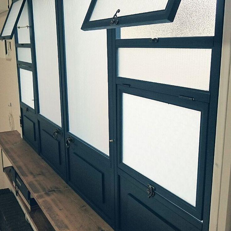 ミックススタイル/二重窓/二重窓DIY/窓枠棚/折れ戸/断熱対策…などのインテリア実例 - 2016-06-23 22:26:11 | RoomClip(ルームクリップ)