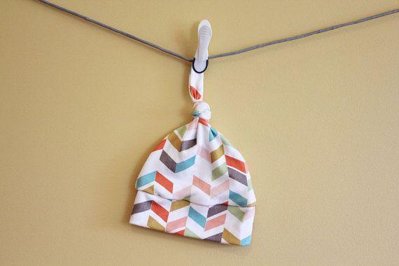 Baby Hat Geometric arrow chevron Organic knot by PETUNIAS