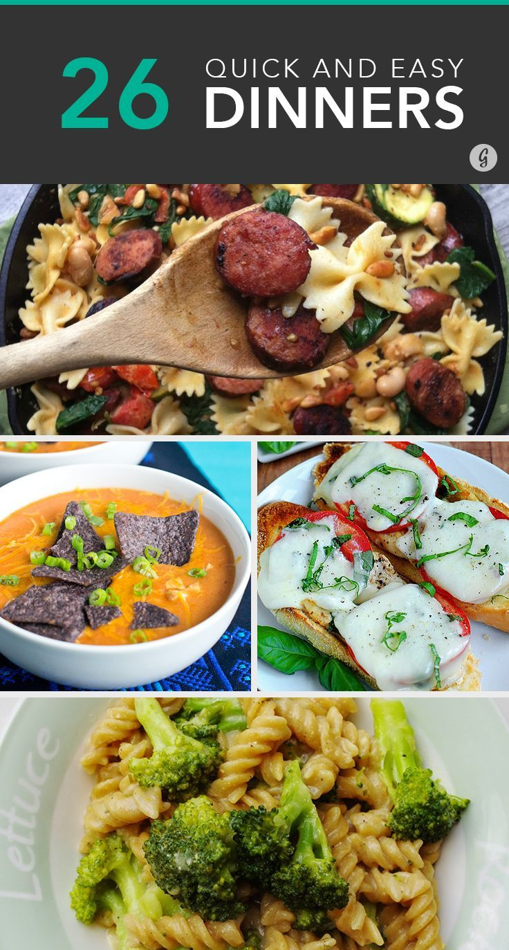 26 Quick and Easy Dinners Ready in 15 Minutes or Less #healthy #dinner #recipes