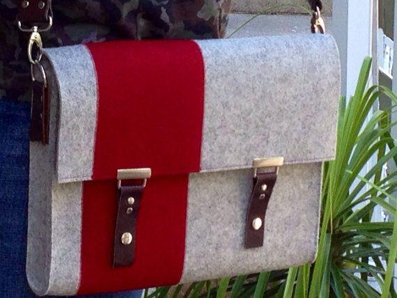 ON SALE  Red Class  Messenger bag case  100 Merino by HenrysBox, $68.99