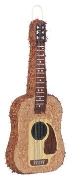 Piñata guitarra: Esta piñata representa una guitarra española. Mide 72 x 28 cm. Es el artículo ideal para tus fiestas de cumpleaños.Unique party branding