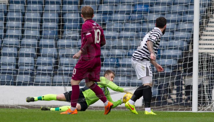 Queen's Park's keeper Wullie Muir makes a save during the SPFL League Two game between Queen's Park and Arbroath.