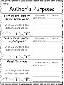 Great source for author's purpose activities