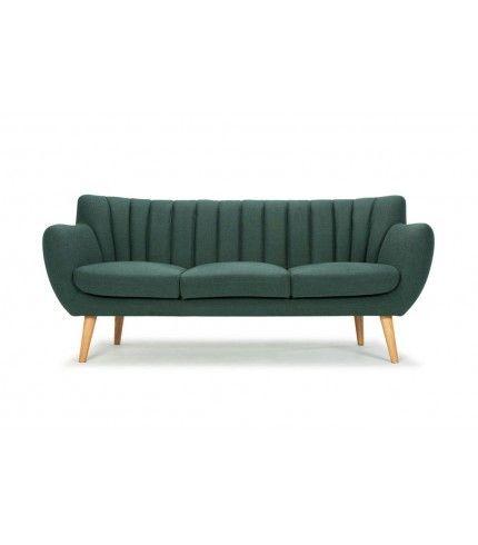 4699,- Sofakompagniet Nana, 3-seater sofa, Dina Forest Green, oak legs