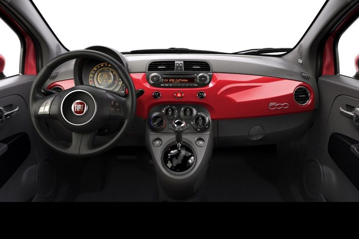 2012 Fiat 500:Fiat 500 2012 Red Color Interior