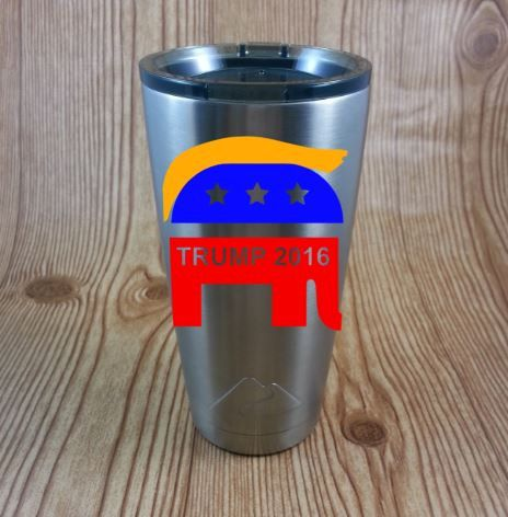 Donald Trump Make America Great Again Stainless Steel Coffee Mug Election 2016  Republican Elephant Trump Hair V6 by NatureFamilyLife on Etsy