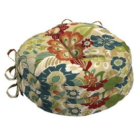 Garden Treasures Bloomery Floral Seat Pad For Bistro Chair Af11465b