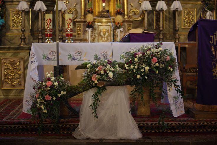 dekoracje kościoła,Wielkanoc