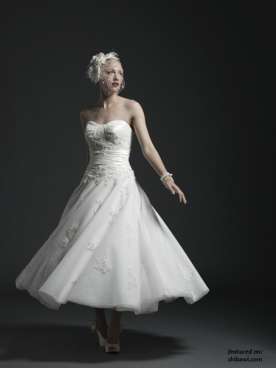 Tea length wedding gown dream dress its all about the for Shoes for tea length wedding dress
