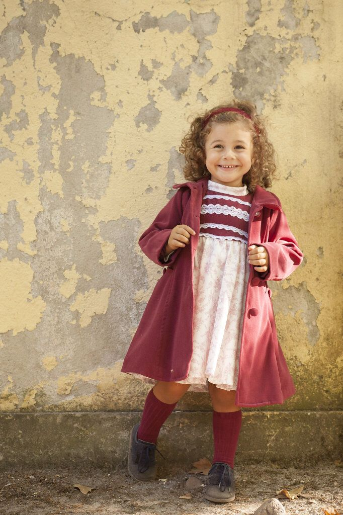 Lavanda & Baunilha Fall/winter 2014 collection : Molly Pink dress and Missy Red jacket , picture by @picpuffin