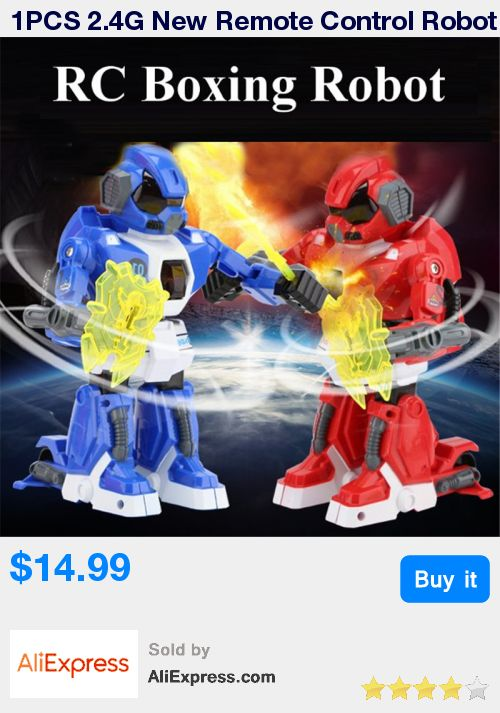 1PCS 2.4G New Remote Control Robot Intelligent RC Balanced Robot Boxing Battle Robot with Light and Music Electric Toy Gift * Pub Date: 14:29 Apr 5 2017
